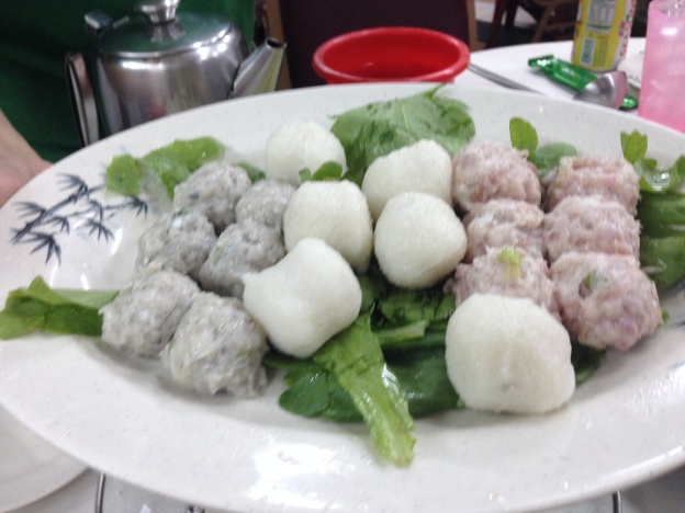 Home made fishballs and meatballs