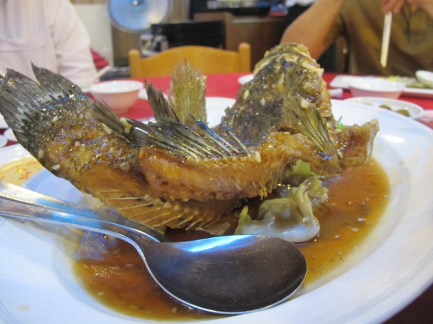 Deep Fried Soon Hock (Marble Goby)